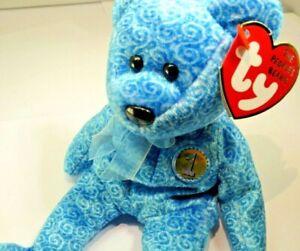 "TY Beanie Babies ""Classy"" Bear 2001 Teddy Bear 8"" new unused with tag People's"