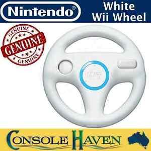 Nintendo Wii Wheel White Mario Kart Racing Accessory Genuine Original Wii U WiiU