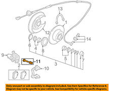 AUDI OEM 02-06 A4 Quattro Brake-Rear Pads 8E0698451L