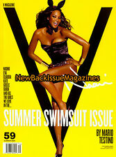 V 6/09,Naomi Campbell,swimsuit issue,Daryl Hannah,June 2009,NEW