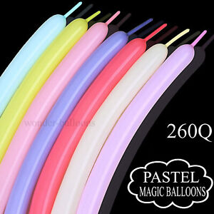 100+ Magic Long Balloons Assorted Colour Twist Toy Making Animals Latex Balloons