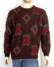 vtg 90s Abercrombie & Fitch Heavy Lambswool Silk Crew Sweater Cable Knit sz M