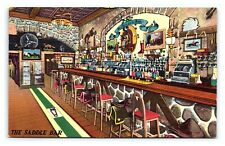 Vintage Postcard Jack Delaney's Saddle Bar Sheridan Square New York City NY E11