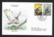 GAMBIA 1978 FIRST DAY COVER BIRDS WILDLIFE FUND VERREAUX EAGLE LIZARD BUZZARD