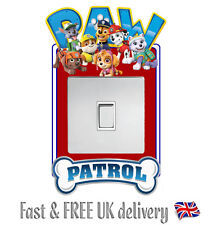 PAW PATROL STICKER LIGHT SWITCH SURROUND WALL STICKER DECAL