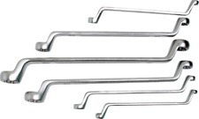 BGS Doppel-Ringschlüssel-Satz mit E-Profil-Ringköpfen gekröpft SW E6-E24 6-tlg