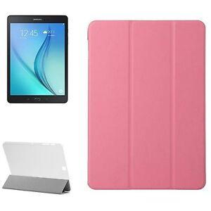 """CUSTODIA SMART COVER Integrale SUPPORTO per Samsung Galaxy TAB S2 9.7"""" T815 Rosa"""