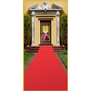 Red Polyester Carpet Runner