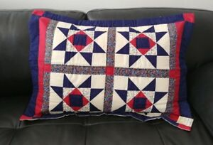 """Ohio Star Quilted Standard Sham 21""""x27"""" Set of 2"""