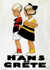 Original vintage poster HANS & GRETE DANISH CHILDREN c.1920 Brasch