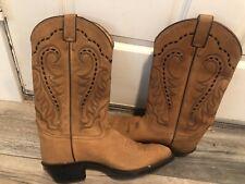 Vintage Tony Lama Suede Cowboy Boots Men's 10 D Nice
