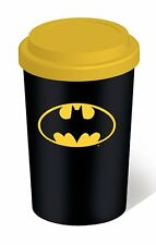 Batman - Logo - Double Wall Ceramic Travel Mug With Silicon Lid - DC Comics