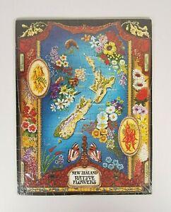 New - Vintage 1980's New Zealand Native Flowers Jigsaw Puzzle Tray Botanical