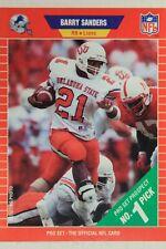 Barry Sanders Lions OSU 1989 Pro Set Rookie Card #494 HOF RC