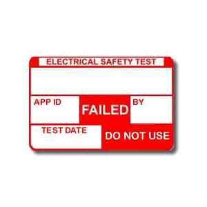 520 PAT Test Failed Plug Top Labels