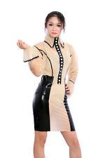 100% Latex Rubber Gummi Dress Kleid Shirt/Hemd Skirt/Rock Catsuit Uniform Kostüm