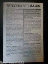 AIR BRITAIN SALES - APRIL 1998