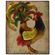 "WALL DECOR 21.5"" ~METAL WALL ART ROOSTER ~ WALL DECOR ~ METAL PLAQUE ROOSTER"
