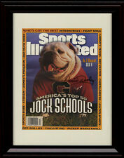 Framed Vince Dooley Sports Illustrated Autograph Print - Georgia Bulldogs UGA V