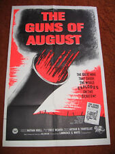 GUNS OF AUGUST 70'S?  WW 1   FOLDED  MOVIE   POSTER