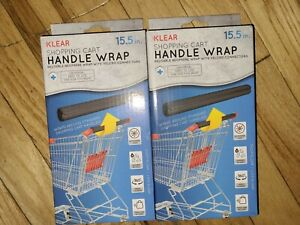 NIP lot of (2) Klear Shopping Cart Handle Wrap washable & reusable w/travel case