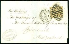 GREAT BRITAIN : SG #110 on VF 1874 Folded Letter to New Zealand Nice bold cancel