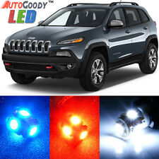 14 x Premium Xenon White LED Lights Interior Package Upgrade for Jeep Cherokee
