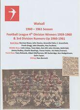 Walsall 1960-1961 rara mano originale firmato TEAM GROUP X 22 firme