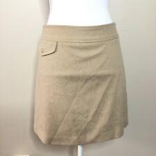 Banana Republic Women's Sz 2 Skirt Pencil A-line Mini Tan Cashmere Wool Lined