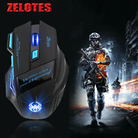 ZELOTES F14 Professional LED Optical 2400 DPI 7D USB Wireless Gaming Mouse Mice