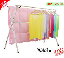 Portable Clothesline Drying Rack Line Indoor Outdoor Folding Laundry Heavy Duty