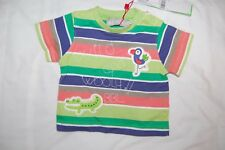 Boboli Striped T Shirt Multicoloured Short Sleeved100% Cotton Age 1 Month BNWT