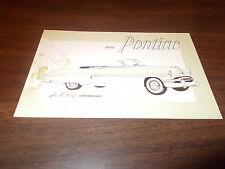 1954 Pontiac Star Chief Convertible Advertising Postcard