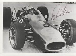 DENIS HULME - ORIG SIGNED PHOTO: DECEASED F1-WORLDCHAMPION