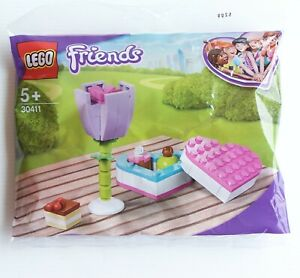 NEW LEGO FRIENDS CHOCOLATE BOX & FLOWER POLYBAG KIT 30411 SEALED VALENTINES DAY
