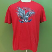Harley Davidson Bald Eagle Mens T-Shirt X-Large XL Red Stars Rossiters Sarasota