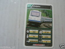 22 SUPER TRAIN D1 TREIN CISALPINO KWARTET KAART, QUARTETT CARD
