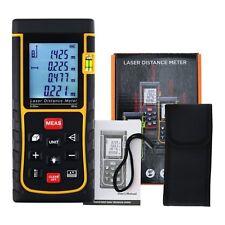 Digital 80M/ 262ft Laser Measuring Tape Distance Meter Range Finder Bubble Level