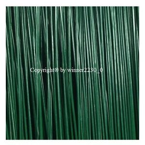 """Select 100 grams of 18 or 22 GAUGE GREEN Plastic Coated Florist Wire 18"""" Length"""