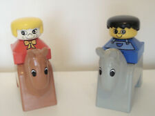 Lego DUPLO vintage figures horses