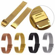 Brazalete De Acero Inoxidable Correa Reloj Pulsera Malla Repuesto Banda 12-22 mm