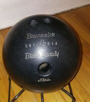 Brunswick Black Beauty Bowling Ball 16 LB Big Fingers Fred