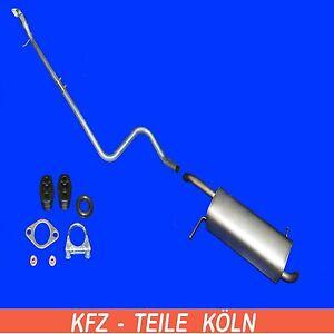 Ford Fiesta VI - 1.25/1.4 Silenziatore + Tubo Gas Scarico Sistema di + Set