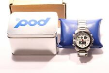 Pod Mens Stainless Steel Chronograph Watch, 100M, Alarm, NO.POD 526