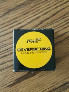 Rare Olympus Pen F LENS Reverse Ring NOS