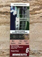 1999Minnesota Golden Gophersvs Penn Statecollege football ticket stub