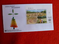 UNITED NATIONS GENEVA DEVELOPING WORK   BLK 4  FDC 14 MARCH1986