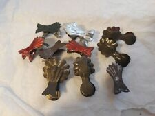 Antique German Metal Christmas Tree Candle Holder 10 Metal Clips