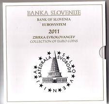 Kursmünzen Satz Slowenien BU 2011 Stgl.  offizieller KMS , Auflage 15.000 Stück