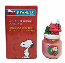 """Snoopy / Peanuts Collectible Holiday Candle Jar 2004 Mib 8"""" Tall"""